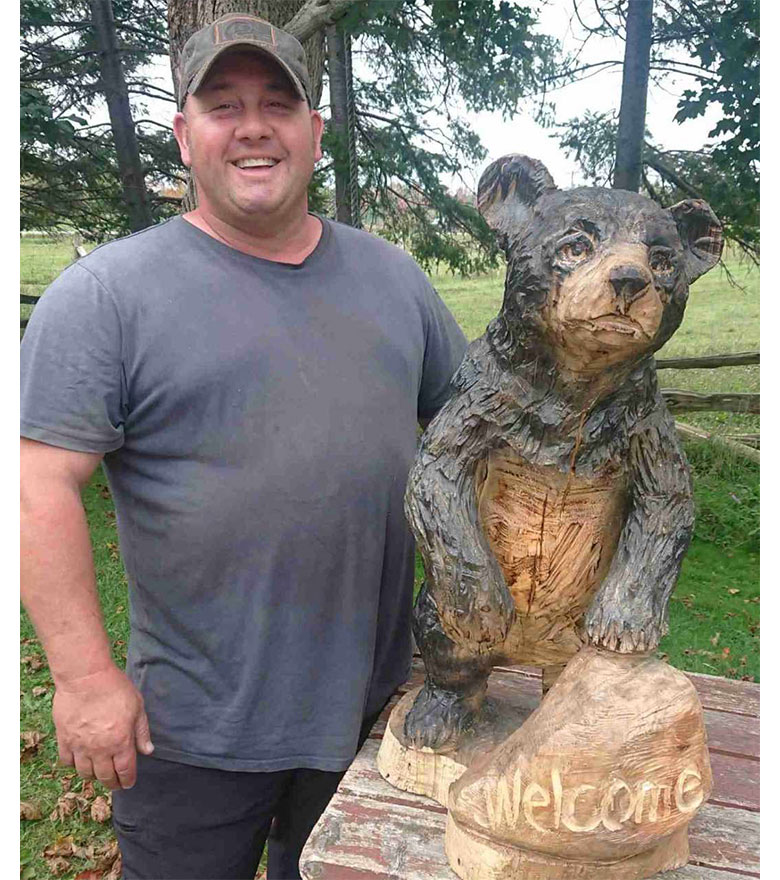 Chainsaw carving ticket winner